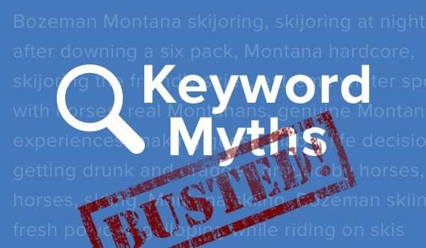 The top 5 list of misconceptions in SEO: get rid of keyword myths
